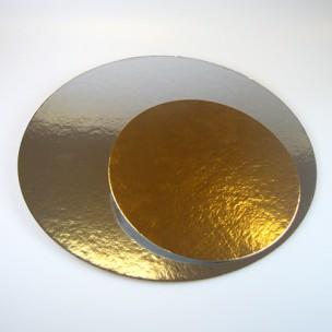 FunCakes Taartkartons zilver/goud ROND 26cm, 3 st.