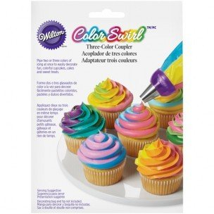 Wilton ColorSwirl Tri-Color Large Coupler
