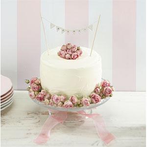 Ginger Ray 'Mr and Mrs' Wedding Cake Bunting - Ivory