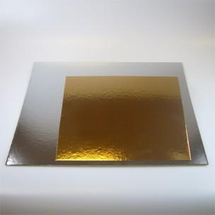 FunCakes Taartkartons zilver/goud VIERKANT 25, 3 st.