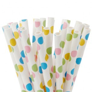 House of Marie Cake Pops Straws, Dots Fancy 20st
