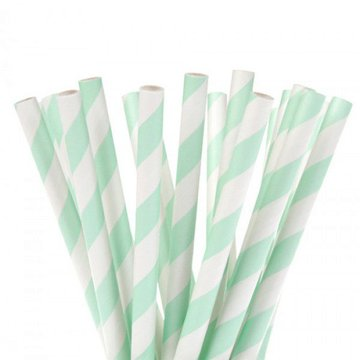 House of Marie Cake Pops Straws, Stripe Mint 20st