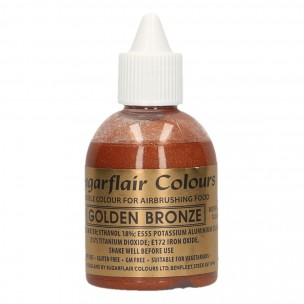 Sugarflair Airbrush Colouring Golden Bronze 60ml