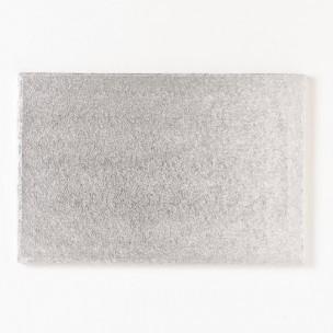 Cakeboard Zilver rechthoek 45,5x35,5 cm