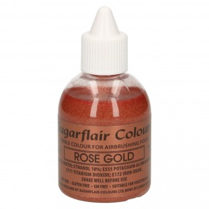 Sugarflair Airbrush Colouring Glitter Rose Gold 60ml