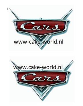 Cars logo taartprints 10 cm hoog/ 2st.