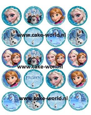 Frozen 2 Cupcake prints, 20st.