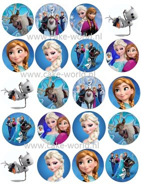 Frozen 3 Cupcake prints, 20st.