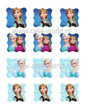 Frozen Cupcake-taart prints 1, 12 st.