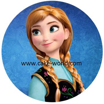 Frozen Anna taartprint 1