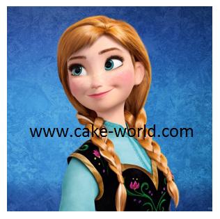 Frozen Anna  taartprint vierkant