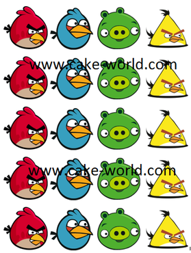 Angry Birds Cupcake prints, 20st.