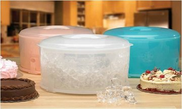 Cake & Food Carrier - Clear Colour Box