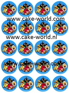 Angry Birds 2 Cupcake prints, 20st.