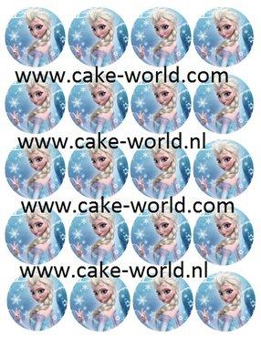 Frozen Elsa Cupcake prints, 20 st.