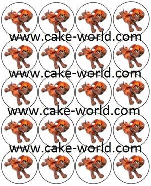 Paw Patrol 4 Cupcake prints, 20st.