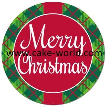 Kerst taartprint 2