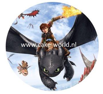 Hoe tem je een draak 1 taartprint