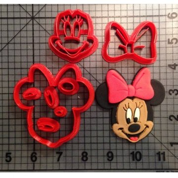 Koekjes uitsteker Minnie Mouse 14cm