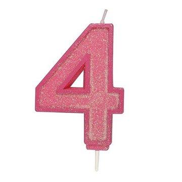 Culpitt Glitter Candle Roze Number 4