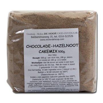 Molen de Hoop Chocolade Hazelnoot cakemix 500gr