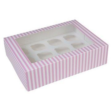 HoM Cupcakes Circus doosje met venster - voor 12 cupcakes
