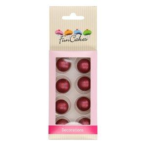 FunCakes Choco Balls Parelmoer Ruby Set/8