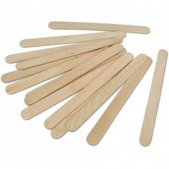Lollie IJsstokjes plat hout 11cm, 50st.