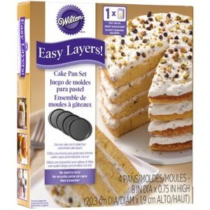 Wilton Cake Pan Easy Layers, 20cm Set/4