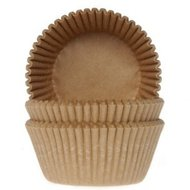 House of Marie Baking Cups Kraft/50st