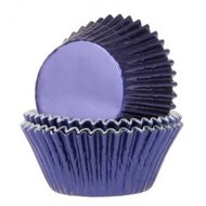 House of Marie Baking Cups Folie Navy Blauw 24st