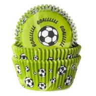 House of Marie Baking Cups Voetbal Goal!!! Groen/50st