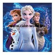 Frozen II Eetbare Taartprint Vierkant