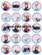 Frozen Eetbare Cupcake print 20st.