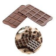 Silikomart Chocolademal Tabletjes (12x) 3,8x2,8 cm