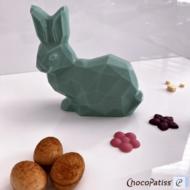 ChocoPatiss Geo Easter Bunny, 2-delige set 12cm