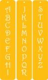 Contemporary Monogram Designer Stencil