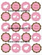 Babyshower Girl cupcake print 20st.