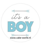 Babyshower Boy taartprint