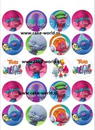 Trolls cupcake print, 20st