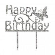 Cake Star Cake Topper, Happy Birthday