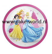 prinsessen 2 taartprint   rond