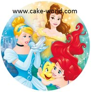 Prinsessen taartprint rond
