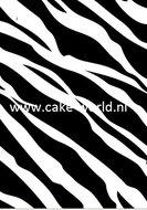 Tas Taartprint Zebra
