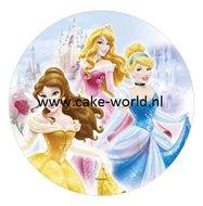 Prinsessen 1 taartprint rond