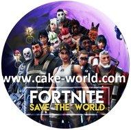 Fortnite 2 taartprint rond