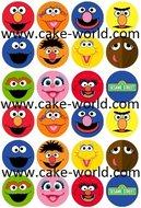 Sesamstraat Cupcake Print 24st