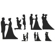 Patchwork Cutter Wedding Silhouette